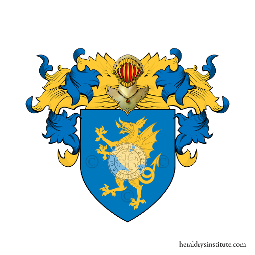 Coat of arms of family Dragonero