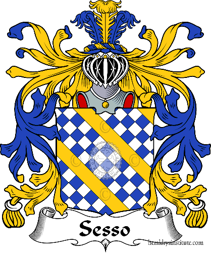Coat of arms of family Sesso - ref:35889