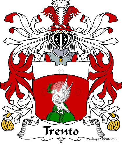 Coat of arms of family Trento - ref:35974