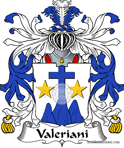 Coat of arms of family Valeriani - ref:35998