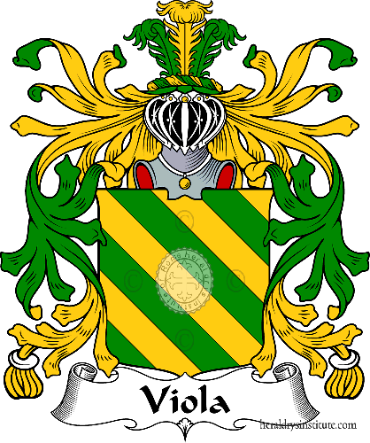 Coat of arms of family Viola - ref:36042