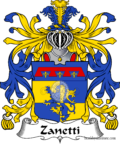 Coat of arms of family Zanetti - ref:36059