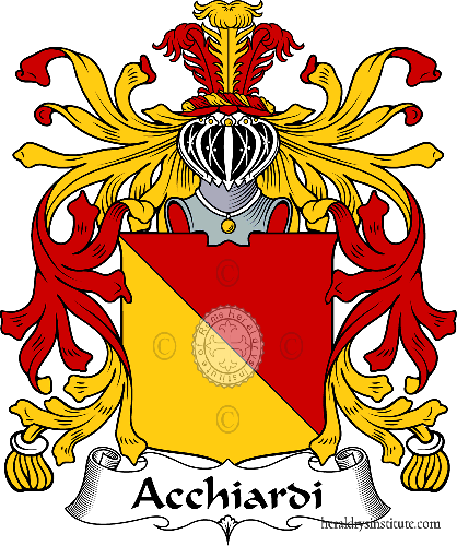 Coat of arms of family Acchiardi - ref:36063
