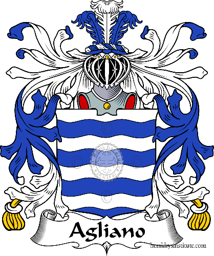 Coat of arms of family Agliano - ref:36068