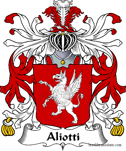 Coat of arms of family Aliotti - ref:36073