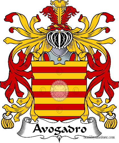 Coat of arms of family Avogadro - ref:36083