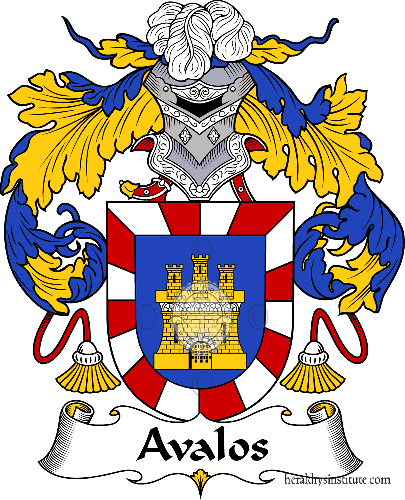 Coat of arms of family Abalos or Avalos - ref:36090