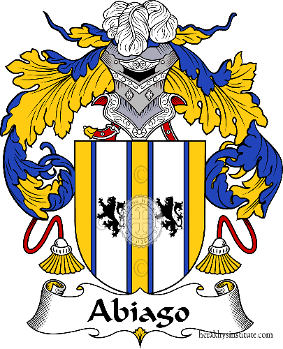 Coat of arms of family Abiago - ref:36109