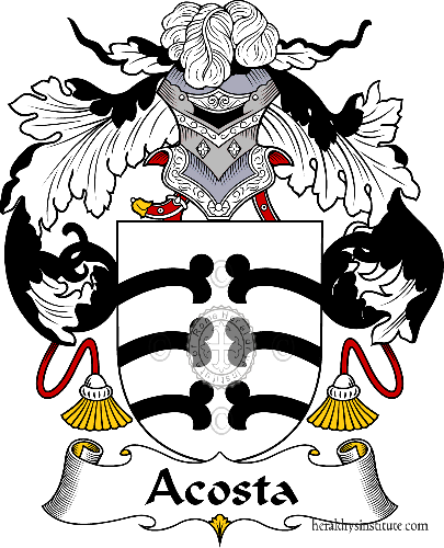 Coat of arms of family Acosta - ref:36134
