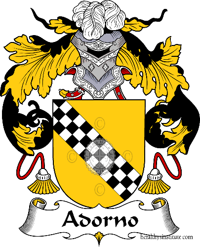 Coat of arms of family Adorno - ref:36141