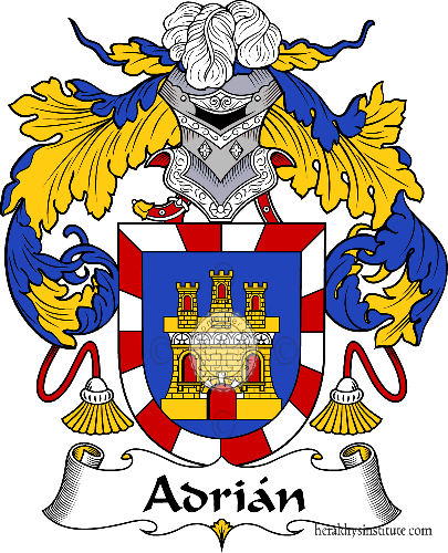 Coat of arms of family Adrián - ref:36142