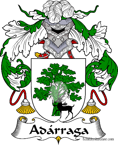 Coat of arms of family Adárraga - ref:36144