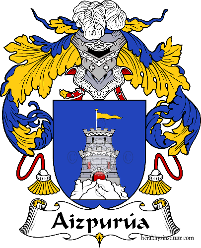 Coat of arms of family Aizpurúa - ref:36175