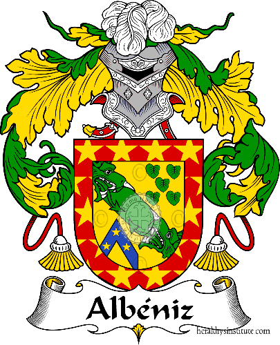 Coat of arms of family Albéniz - ref:36195