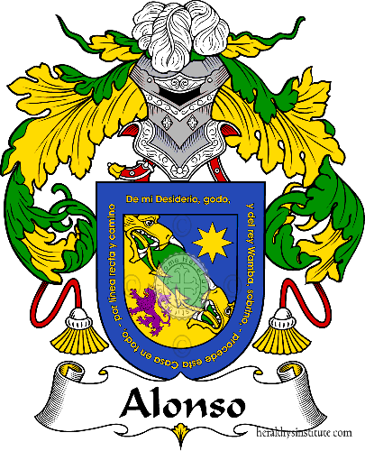 Coat of arms of family Alonso I - ref:36224