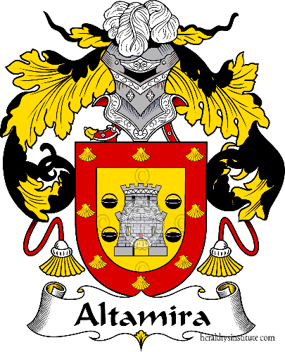 Coat of arms of family Altamira - ref:36229