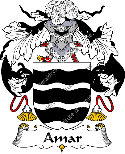 Coat of arms of family Amar - ref:36236