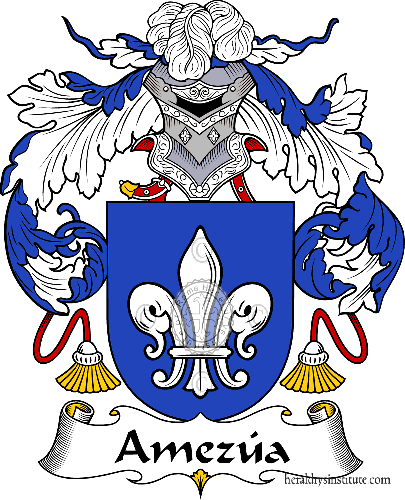 Coat of arms of family Amezúa - ref:36241