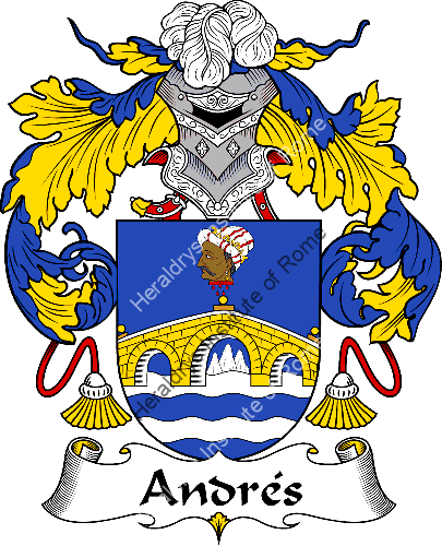 Coat of arms of family Andrés - ref:36259
