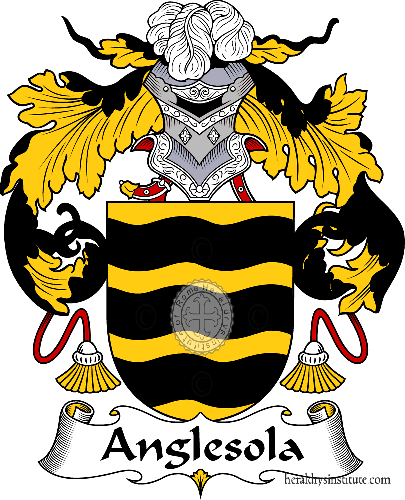 Coat of arms of family Anglesola - ref:36266