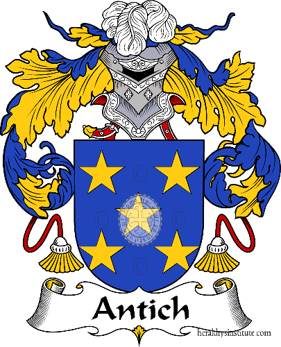 Coat of arms of family Antich - ref:36275