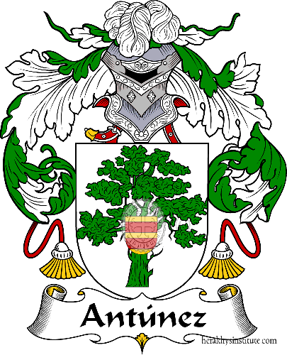 Coat of arms of family Antúnez - ref:36280