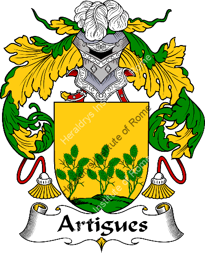 Coat of arms of family Artigues - ref:36352