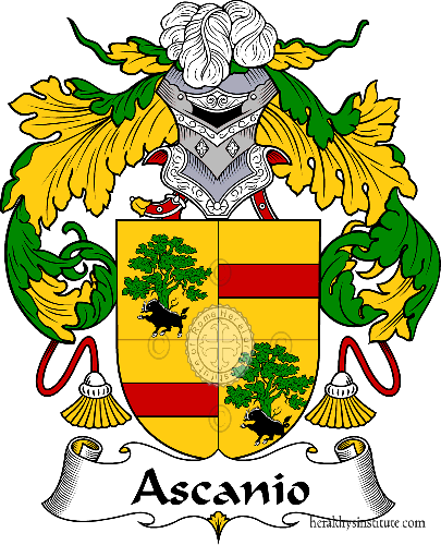 Coat of arms of family Ascanio - ref:36357