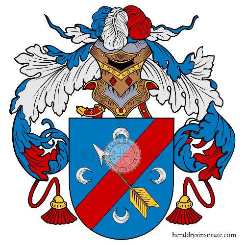 Coat of arms of family Azcón - ref:36375