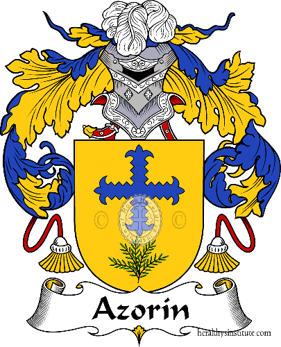 Coat of arms of family Azorín - ref:36379
