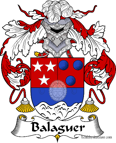 Coat of arms of family Balaguer - ref:36393