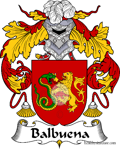 Coat of arms of family Balbuena - ref:36395
