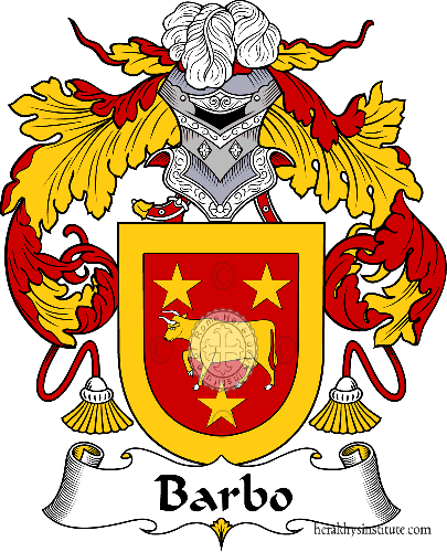 Coat of arms of family Barbo - ref:36420