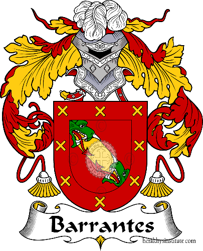 Coat of arms of family Barrantes - ref:36431