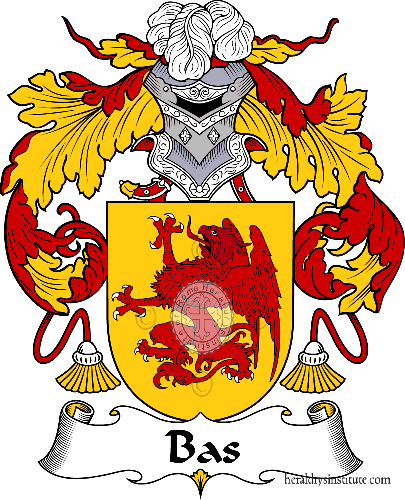 Coat of arms of family Bas - ref:36450