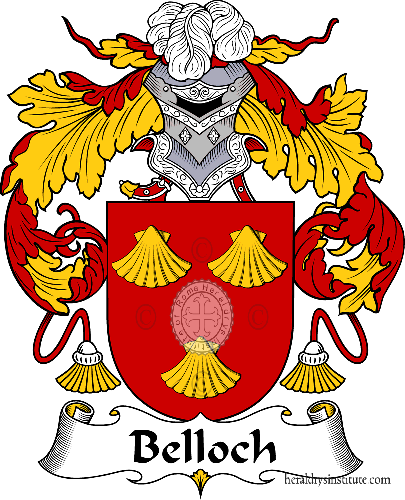 Coat of arms of family Belloch - ref:36468