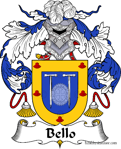 Coat of arms of family Bello - ref:36469