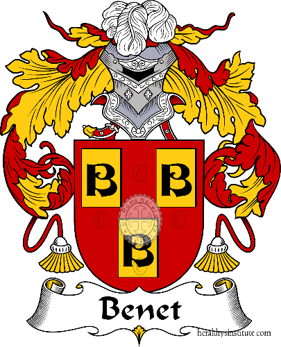 Coat of arms of family Benet - ref:36481
