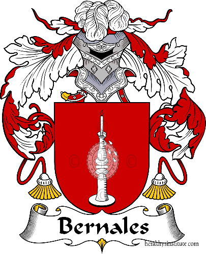 Coat of arms of family Bernales - ref:36492