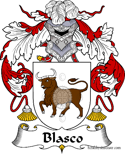 Coat of arms of family Blasco - ref:36512