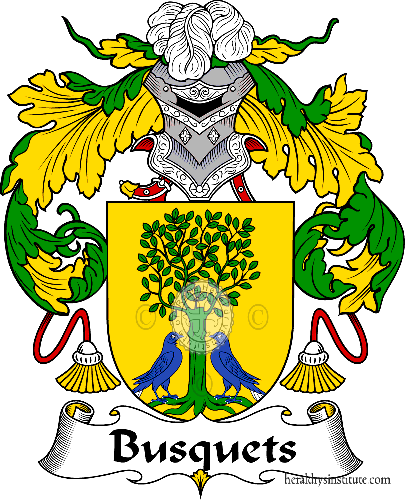 Coat of arms of family Busquets - ref:36543