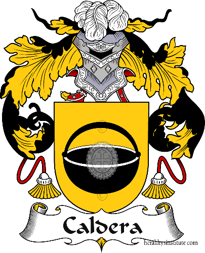 Coat of arms of family Caldera or Caldeira - ref:36567