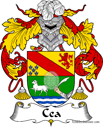 Coat of arms of family Cea