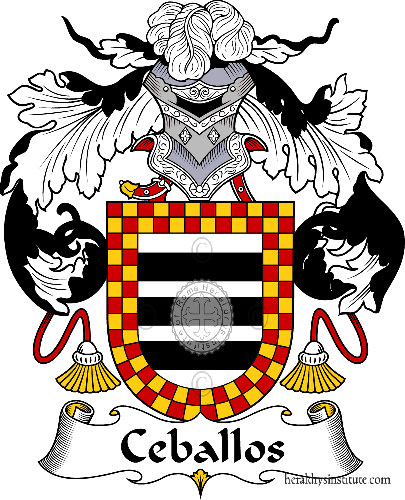 Coat of arms of family Ceballos - ref:36653