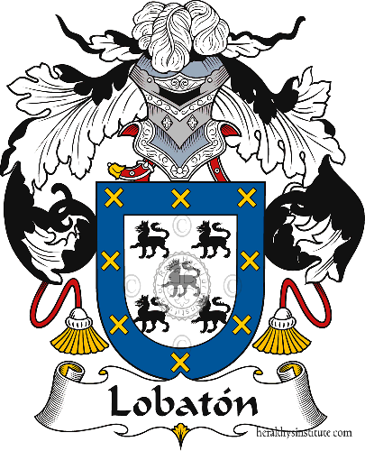 Coat of arms of family Lobatón