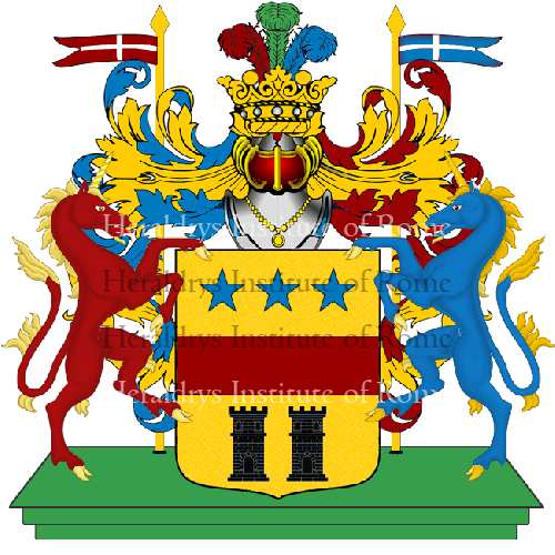 Coat of arms of family  - ref:3805