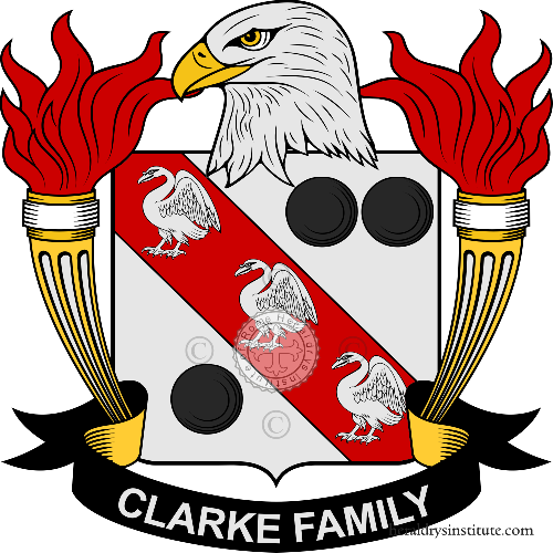 Coat of arms of family Clarke