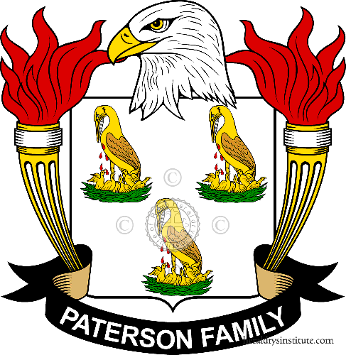 Coat of arms of family Paterson ref: 39959