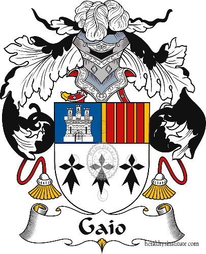 Coat of arms of family Gaio