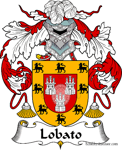Coat of arms of family Lobato